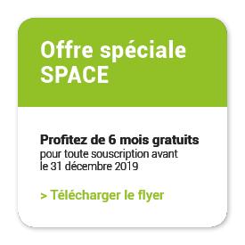 Offre spéciale SPACE 2019 6 mois gratuit pour toute souscription à agreo mobile