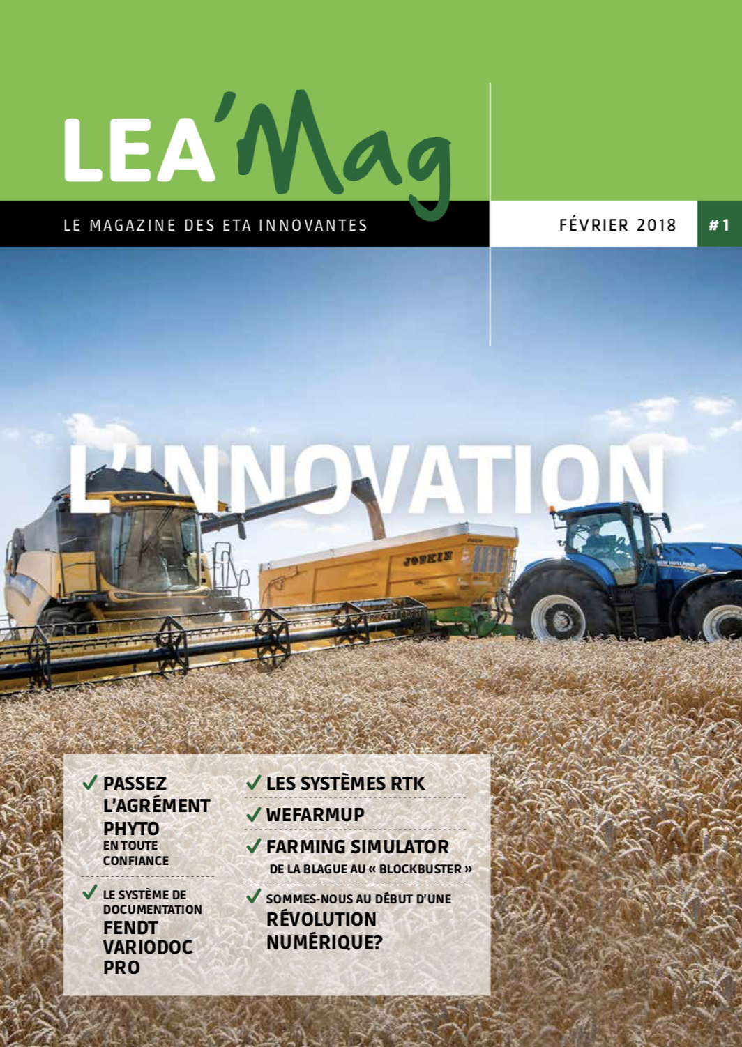 LEA'Mag le magazine des entreprises de travaux agricoles innovantes / the magazine for innovative agricultural operations